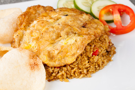goreng: Fried Rice Nasi Goreng Indonesia with egg