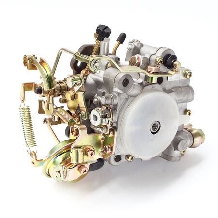 carburettor:   Engine parts  Stock Photo