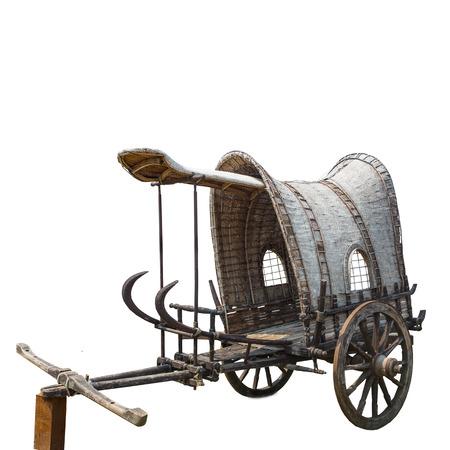carreta madera: viejo vag�n de madera de estilo tailand�s