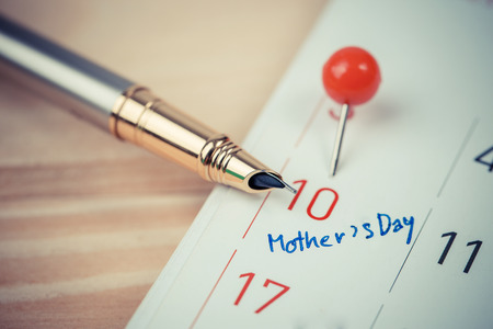 forewarn: Mark on the calendar at 10. Mother Stock Photo