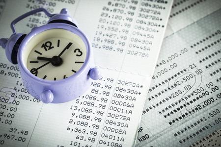Close up of saving account Passbook Stok Fotoğraf