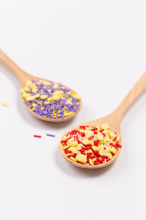 topping: Colorful sprinkles, topping icecream and cake