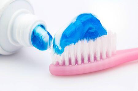 pasta dental: pasta de dientes Foto de archivo
