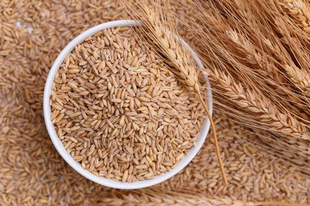 Pearl barley in bowl Stok Fotoğraf