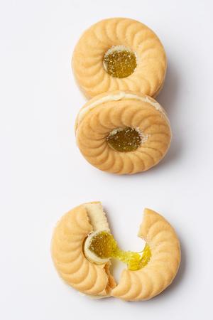 kiwi sandwich cookie isolated Stok Fotoğraf