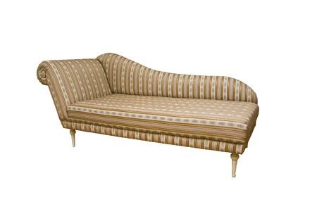 An old fashion sofa with stripes on white background Stock Photo