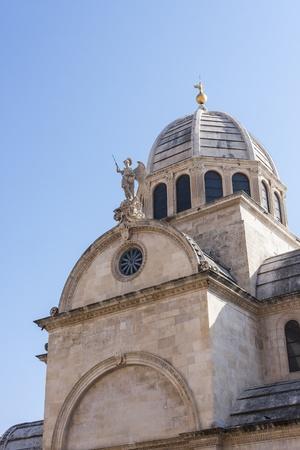 sveti: A photo of a tower of Cathedral Sveti Jakov in Sibenik in Croatia