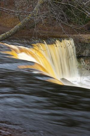 joa: Waterfall known as Keila Juga near Tallinn, Estonia at spring at high water level