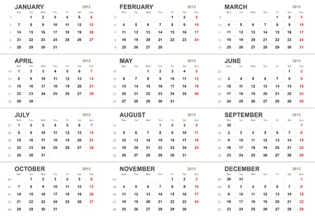 Solid 2013 calendar template or background