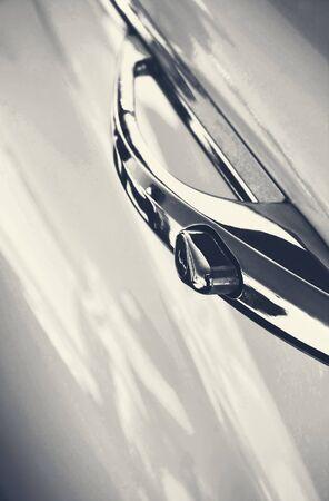 chorme: Old white vehicle
