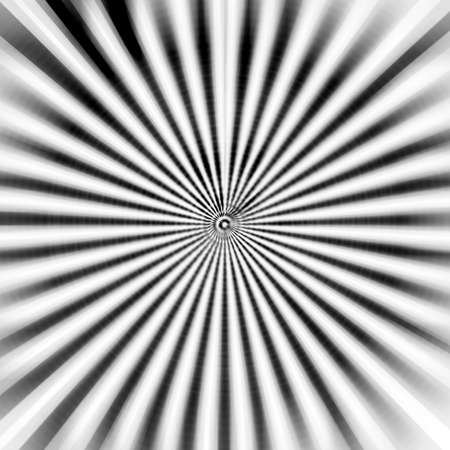 converge: Abstract illustration background of a black and white beams converge to center Stock Photo