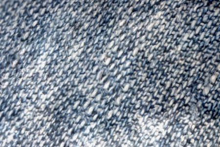 Closeup of blue jeans material or textile Stock Photo