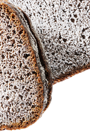 black bread: Closeup of a surface of frosty black bread