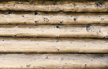 logs: Wall of thick tree logs or beams
