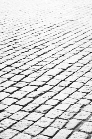 cobblestone: Abstract black and white cobble stone background