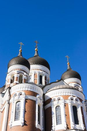 aleksander: Towers of Aleksander Nevski catherdral in the old town of Tallinn, Estonia