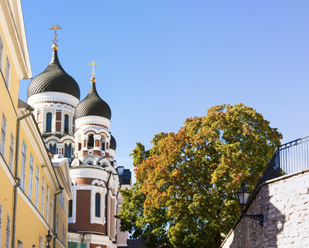 aleksander: Towers of Aleksander Nevski cathedral in Tallinn, Estonia