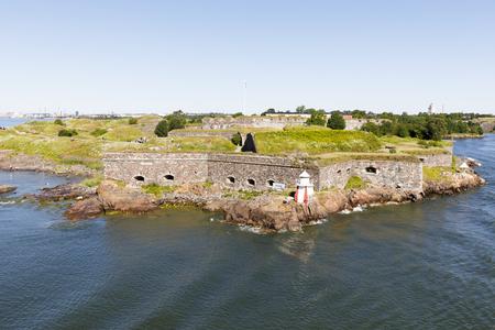 Walls of Sumenlinna fortress in Helsinki, Finland Фото со стока