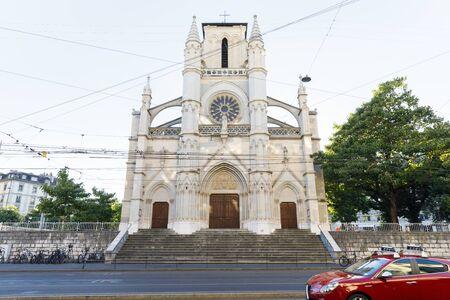 Basilica Notre-Dame catholic church in Geneva, Switzerland