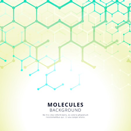 Abstract molecules background