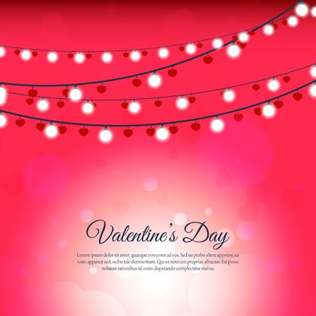 Blurred light bulb background for valentine day