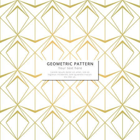 Geometric golden elegant pattern