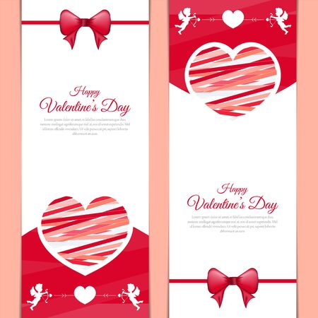 Love message banner for valentines day