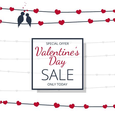 Special offer banner valentines day sale