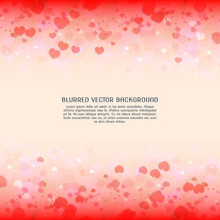 Blurred valentines day background hearts