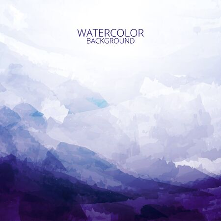 Beautiful abstract blue tone watercolor background