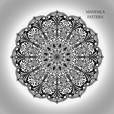 Beautiful floral vintage mandala ornament pattern and background