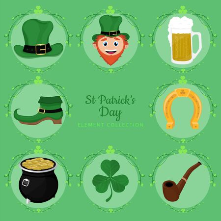 A beautiful vector st Patricks day element collection. Illustration