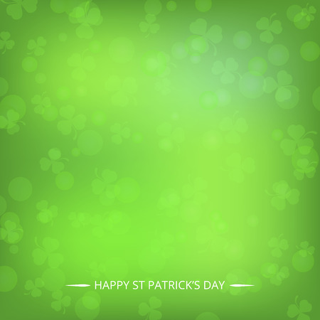 A beautiful blurred clover background for st patrick's day with bokeh effect