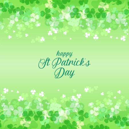A beautiful shamrock background for st patrick's day. colorful green clover leaf Illustration