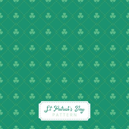 A beautiful seamless and modern st patricks day pattern. vector design. leaf, shamrock Illustration