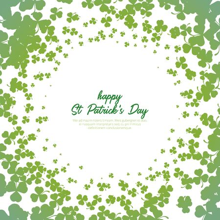 A shamrock circle pattern and background for st patrick's day. leaf, st patrick's day element