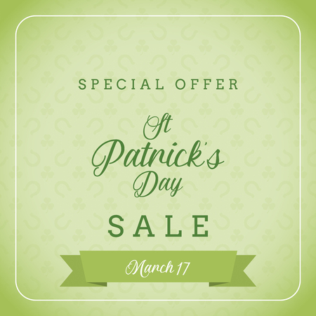 A st patrick's day sale and special offer banner. discount, st patrick's day elements