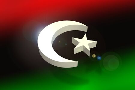 Libya flag concept Stock Photo - 10740840