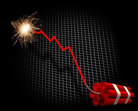 Financial crisis countdown  Stock Photo