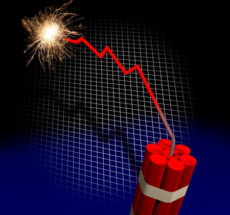 doom: Bankruptcy countdown  Stock Photo