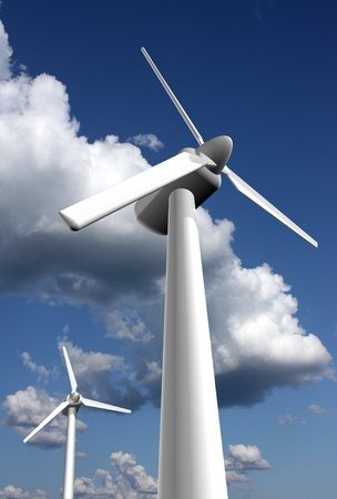 Wind power plants  photo
