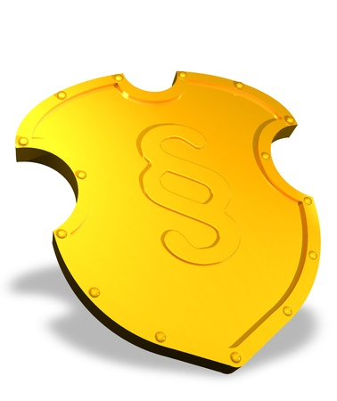 Golden shield of justice Stock Photo - 11528229
