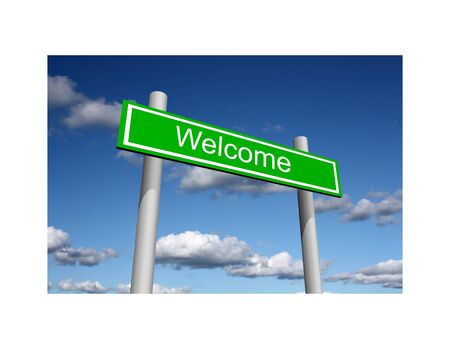 acceptance: Welcome street sign