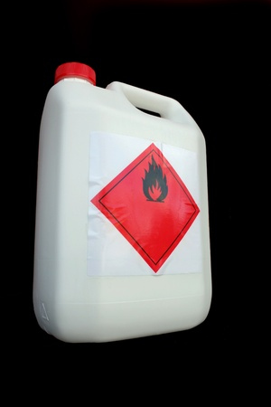 Can of flammable liquid photo