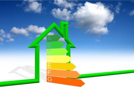 House Energy Efficiency Class Stock Photo