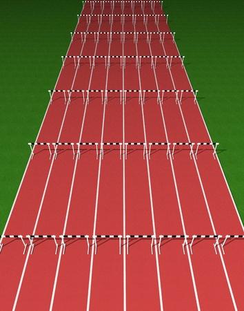 atletisch: Horden volgen Stockfoto