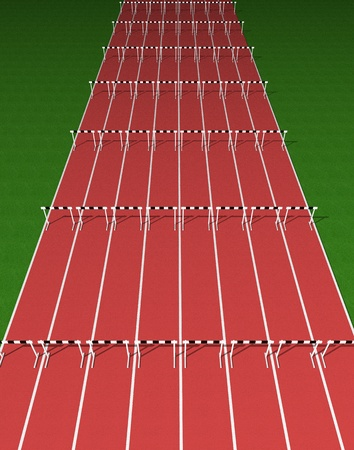 athletic symbol: Hurdles track