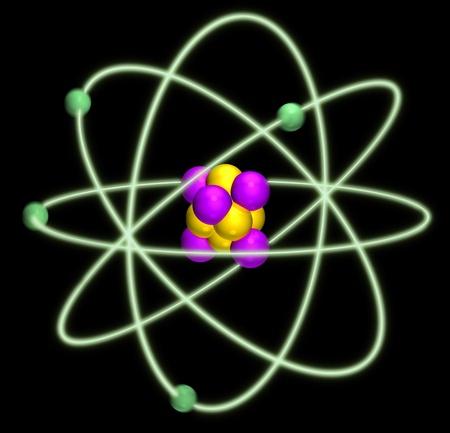 atomo: �tomo n�cleo Foto de archivo