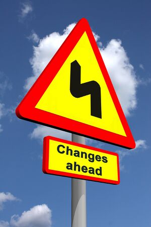 Changes ahead traffic sign featuring change management  photo
