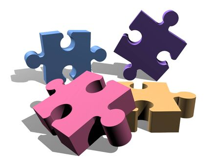 Jigsaw puzzle pieces concept